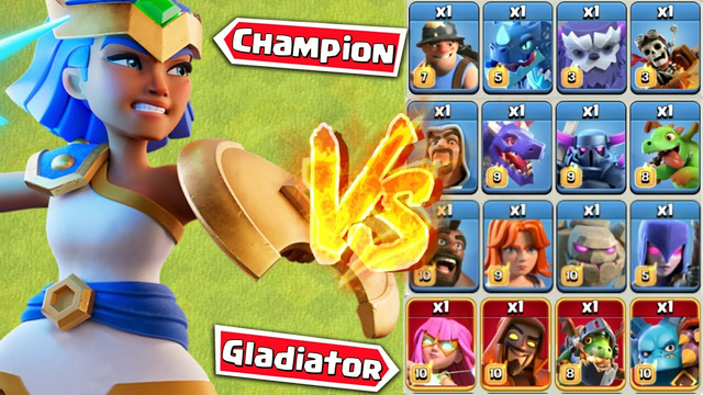 Minimum Troops to Defeat Gladiator Champion - Clash of Clans