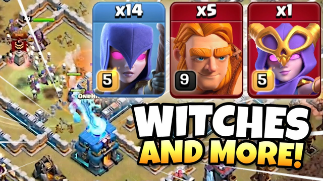 Best TH12 Attack Strategy IMPROVED! Flanking Super Witch! TH12 Zap Witch and MORE! Clash of Clans