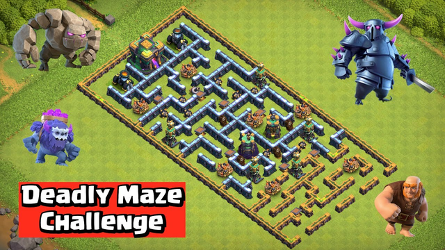 Deadly Maze Challenge   Clash of Clans