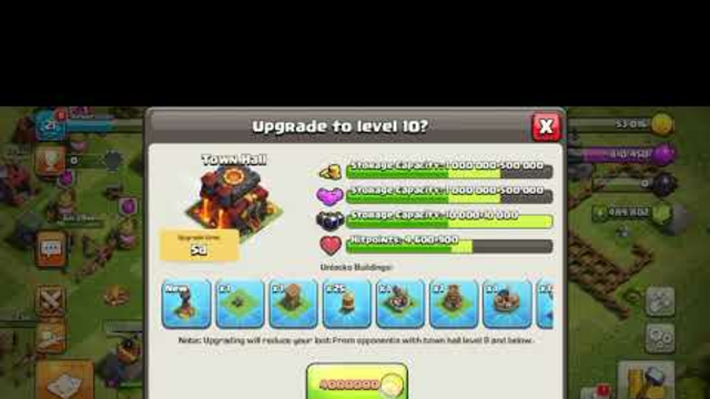 Clash of Clans TH1 to TH14 upgrade #short