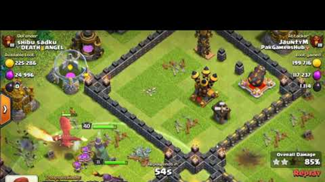 Perfect Victory with Level 7 Dragons and Archer Queen - Clash of Clans