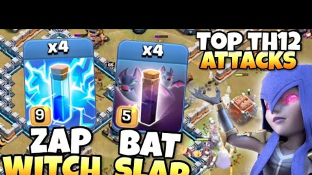 I Mixed TH12 Bat Slap with Zap Witches, result was AMAZING! Clash of Clans