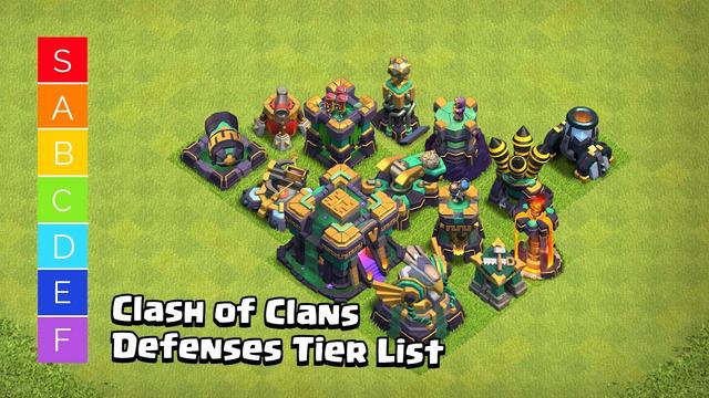 Clash of Clans Defenses Tier List