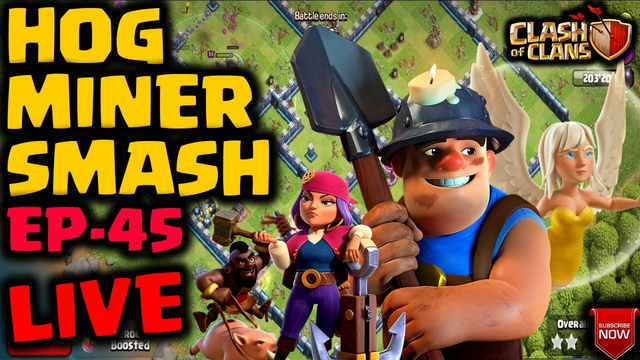 Hog Miner Hybrid Attacks Strategy   Queen Charge   Legend League   Clash of Clans   EP 45