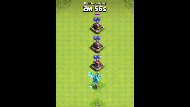 Electro Dragon VS All Level Air Bombs - Clash of clans