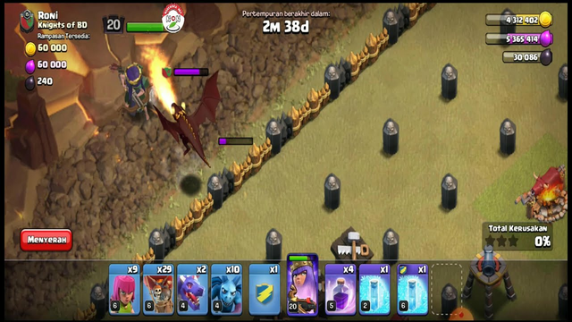 Clash Of Clans - Liga Perang Klan Ronde 5 VS Knights Of BD Roni