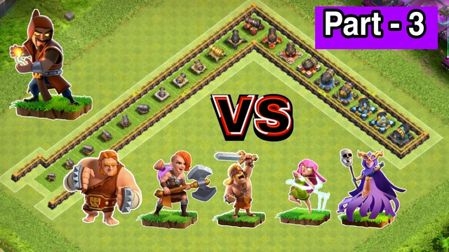 Every Level Cannon Formation VS All Troops   Part - 3   Clash of clans  