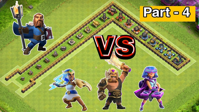 Every Level Cannon Formation VS All Heroes | Part - 4 | Clash of clans |