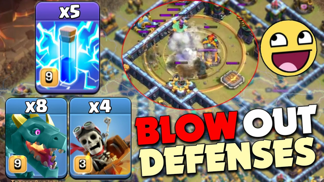 Zap New Style ! The Best Combo With Green Dragon + Rider Attack - Clash Of Clans