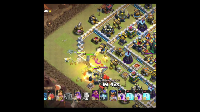 clash of clans || war Attack || 3 star || electro dragon & loon with rage and freez -- #shorts #coc