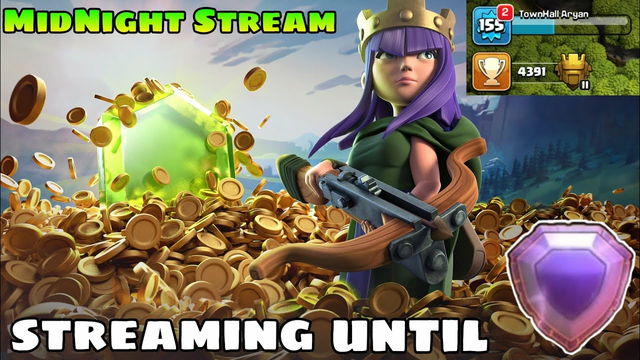 Full Night Stream Clash Of Clans Live Th11 Push To Legend League Today Itself