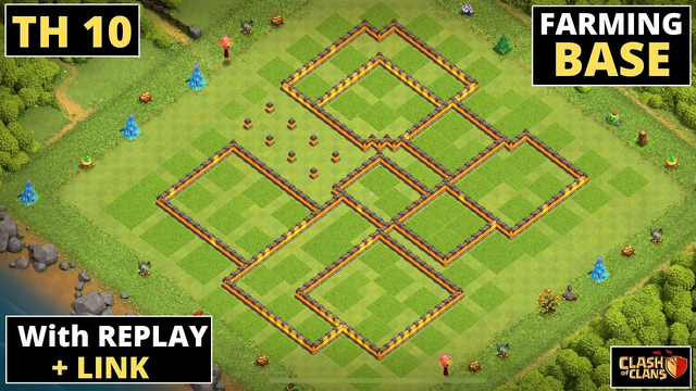 Best TH10 FARMING Base 2021  With REPLAY and COPY LINK   Clash of Clans