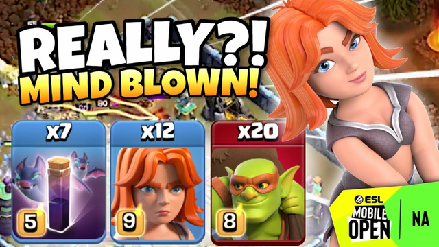 This PRO used Mass VALKYRIES/GOBLINS with BATS in the ESL Mobile Open! | Clash of Clans eSports