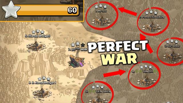 Th14 100% Destruction Perfect War! 20v20 Dominating War Attack Strategies - Clash Of Clans