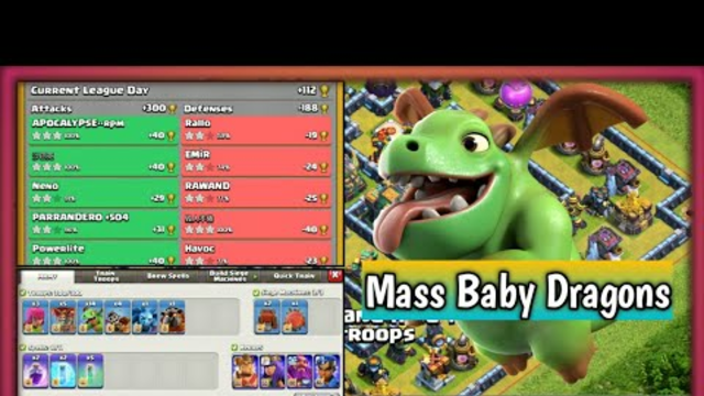 Blizzard + Mass Baby Dragons! TH14 Legend Attacks Live Recordings! Clash of Clans!