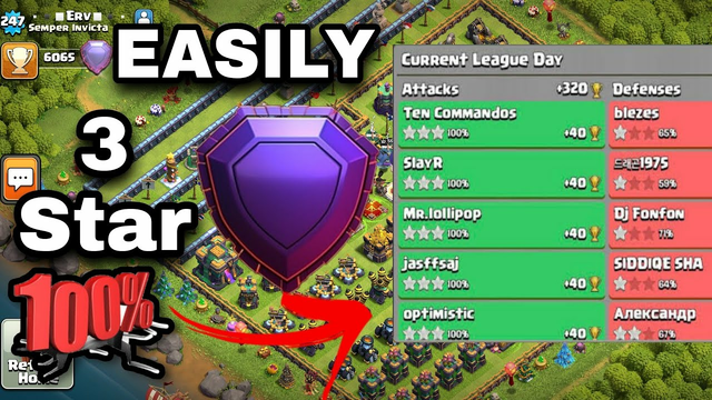 Only 3 star || th14 best/easy attack strategy || clash of clans town hall 14