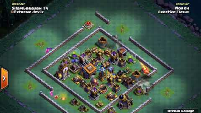 BH9 - Attack Strategy - 2x Pekka, 2x Hogs, Carts, Barbarians - Clash of Clans - Builder Base