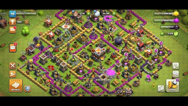 primeira gameplay de Clash of clans