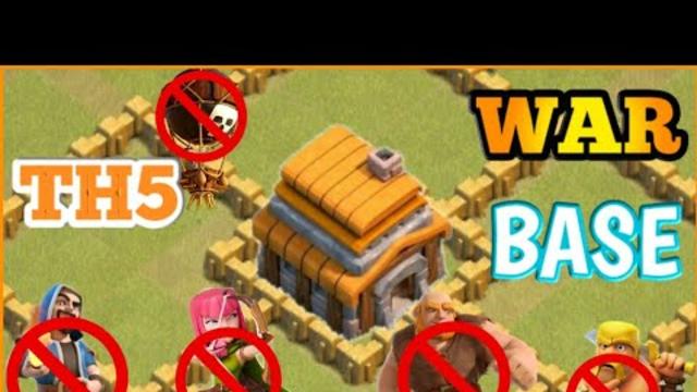 Th5 Best war base | Clash Of Clans| AJ ELEVEN