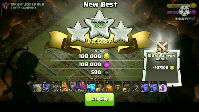 Clash Of clans th 11witch spam easily 3 star