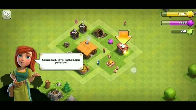 """Main """"CLASH of CLANS"""" seru banget loh bisa bangun desa sendiri...! #part1"""