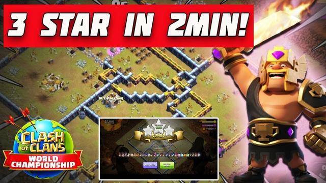 3 Star in 2 Min!! - August Qualifier Challenge Clash of Clans