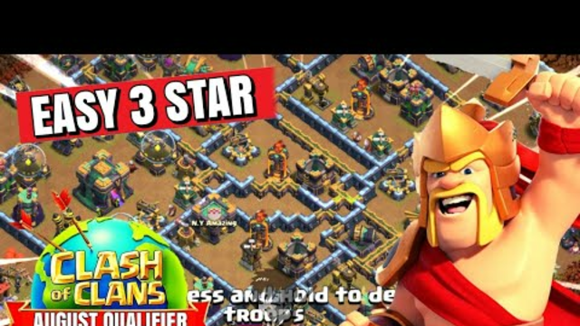 How to complete Clash Worlds August Qualifier Challenge Event in coc | EASILY | coc new event attack