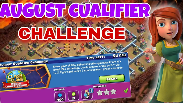 Impossible!! August Qualifier Challenge | clash with m shahab | clash of clans