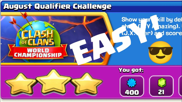 EASY!!! Get 3 Star The August Qualifier Challenge in Clash Of Clans.