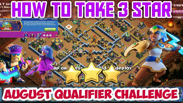 How to take three stars easily in August Qualifier Challenge , Clash of clans Tamil # Shan