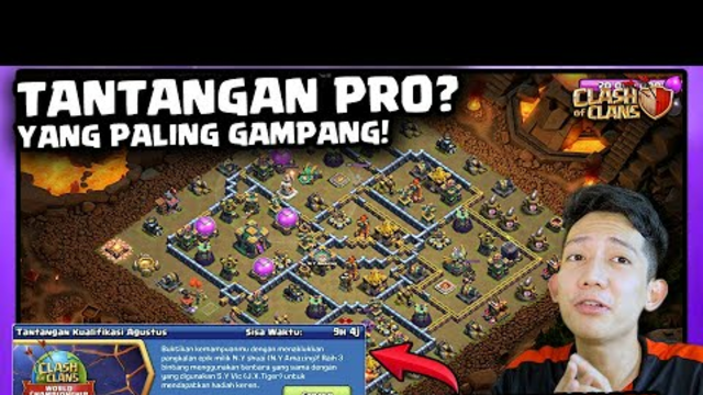 TANTANGAN PRO CoC YANG PALING GAMPANG | Tantangan Kualifikasi Agustus CoC