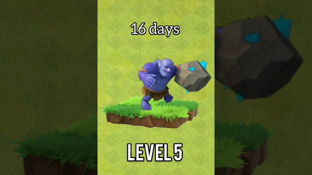 Bowler total time to max upgrade Clash of Clans#short-coc