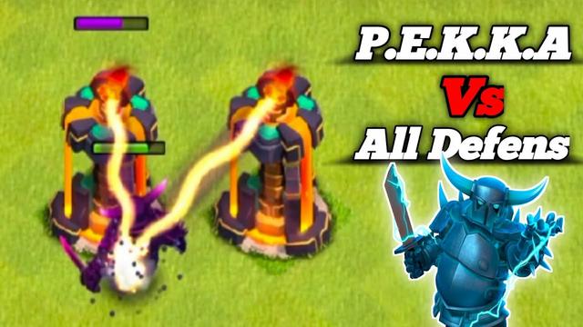 1 Level Supper P.E.K.K.A Vs Max Level  Defenses || 1 Pekka Challenge Clash of Clans