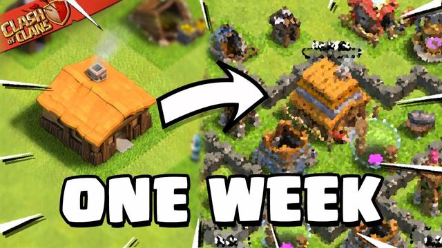 My 1 Week Progress in Clash of Clans!