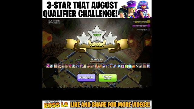 How to 3 Star the AUGUST QUALIFIER CHALLENGE? Clash of Clans