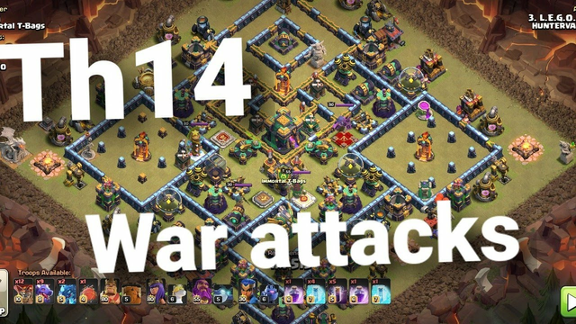th14 top war attacks 3 star - Clash of clans