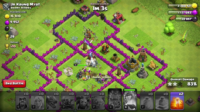 My rushed clash of clans base:)