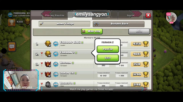 Watch me stream Clash of Clans on Omlet Arcade! Sweetest Monday 20 Good day