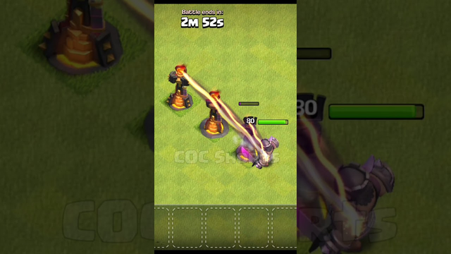 Inferno Tower vs King Clash of Clans #Shorts #cocshorts