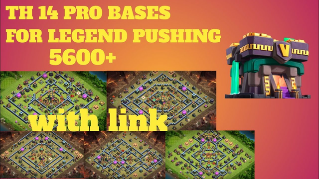 TH14  top 5  pro bases with link ll clash of clans ll