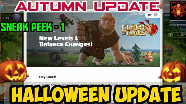 Halloween update , Autumn update , sneak peek - 1 , clash of clans Tamil #Shan