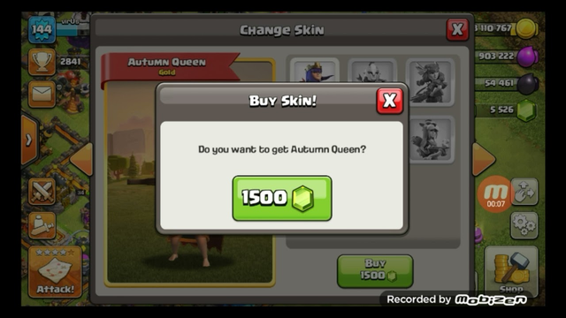 purchase a archer queen skin   #shorts #clash of clans #coc