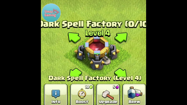 Dark Spell Factory Upgrading 1 To Max Level   Clash of Clans #shorts  #clashofclans