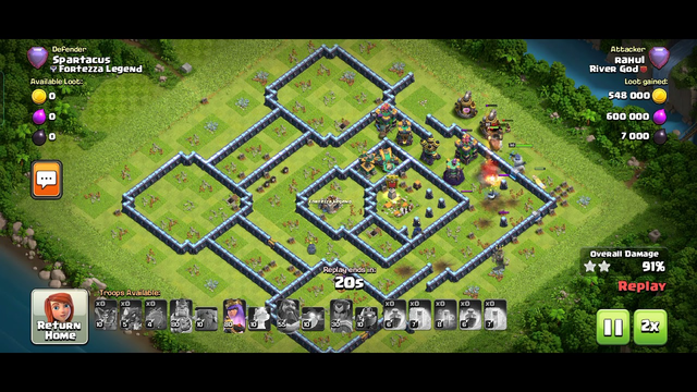 CLASH OF CLANS- Eight 3* attacks in Legend League one day using Electro Drag and balloon.