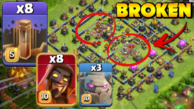 8 Earthquakes Make ANY Bases Weak! Th14 Super Wiz GoWi Attack Strategy - Clash Of Clans