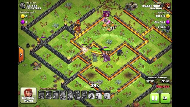 Clash of Clans %99 defense Fail