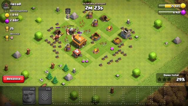 jugando clash of clans mejorando mi aldea en directo