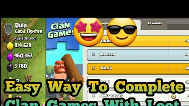 Easy way To Complete Clan Games With 1M Loot #Rushtomax Part :2 #coc #supercell