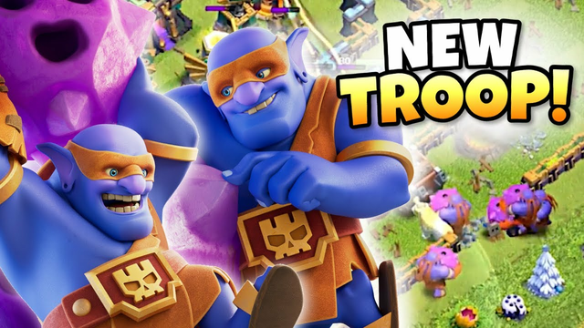 NEW TROOP - SUPER BOWLERS with TRIPLE Bounce Boulders! Clash of Clans