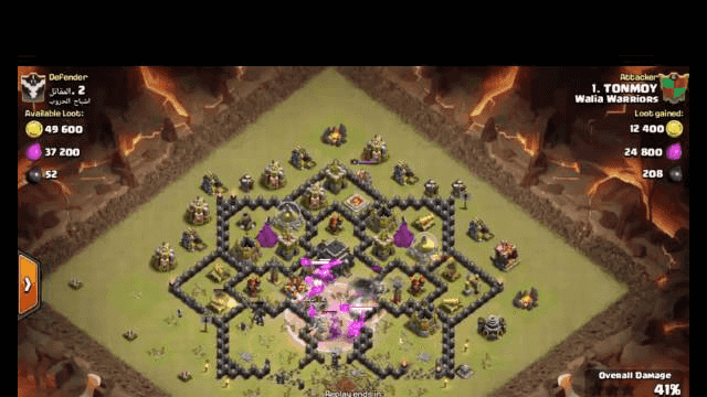 clash of clans best attack town hall 9 2016